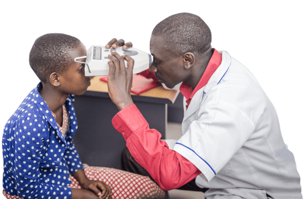 OneSight doctor provides charitable eye exam