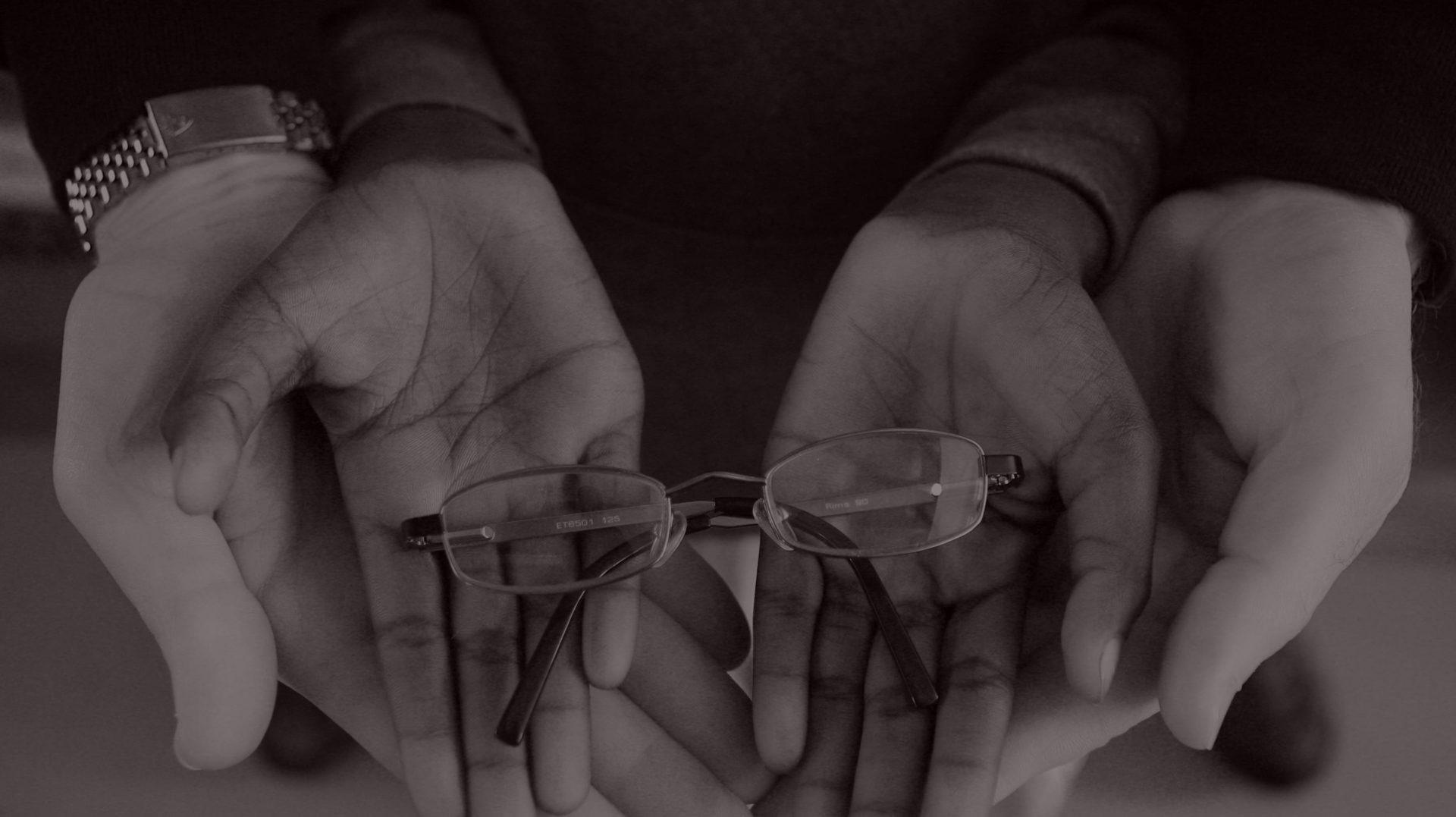OneSight Beneficiary's Hands