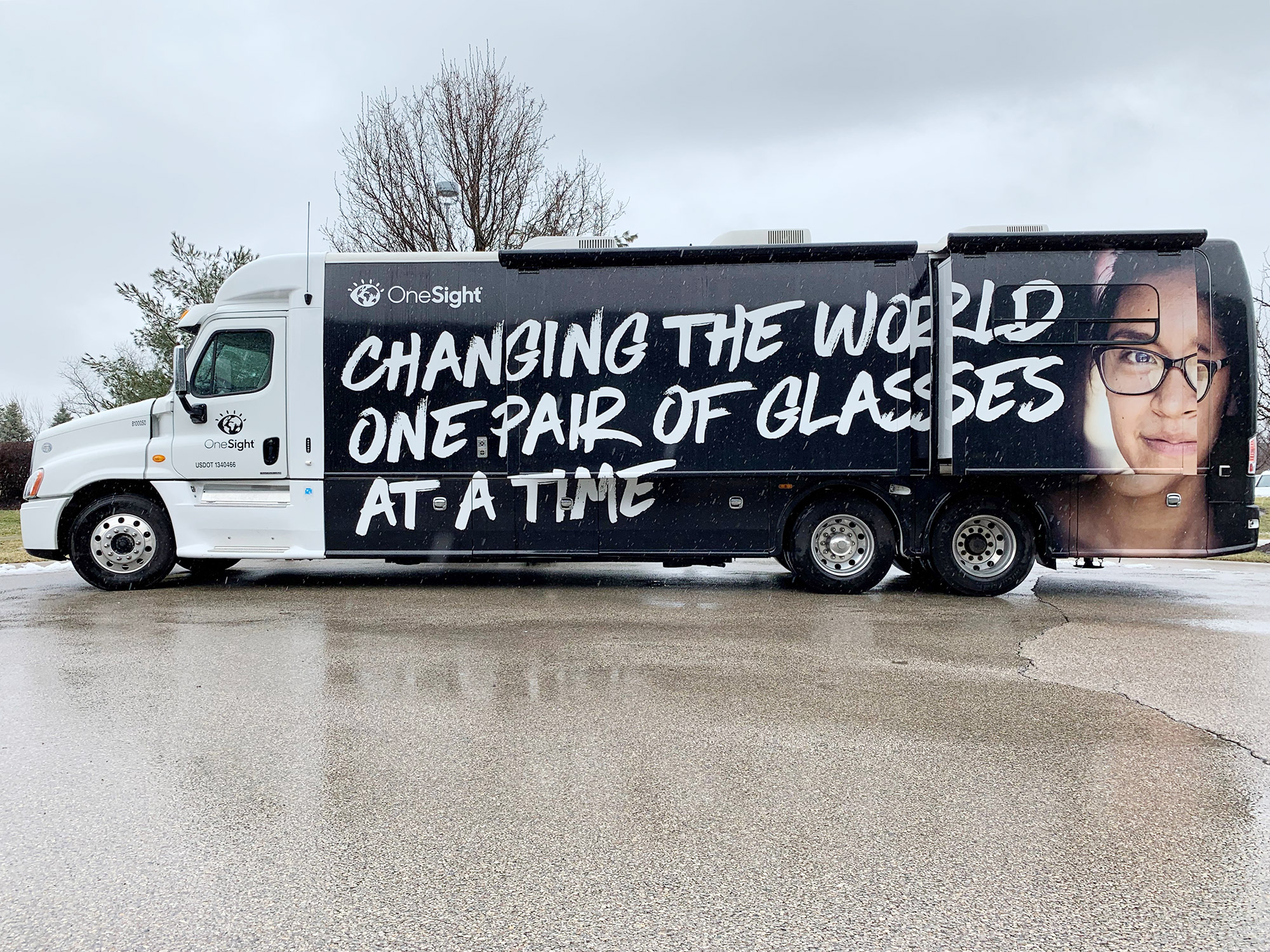 f6a44f581b9 Optometrists will perform eye exams on board OneSight s state-of-the-art  mobile vision unit